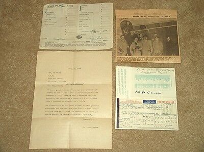 (4) 1962 Ozark Airline Inaugural Flight Mt. Vernon Ill. To Chicago *collectables