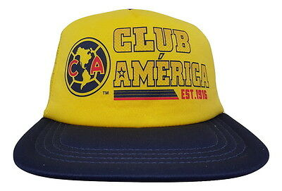 e6834a212df Club America Yellow Hat Cap New With Tags by Rhinox Flat Brim Official  Product