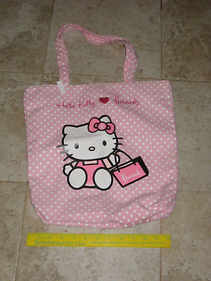 $55 Authentic Hello Kitty Small Tote Bag from Harrod's London Sanrio Pink Cotton