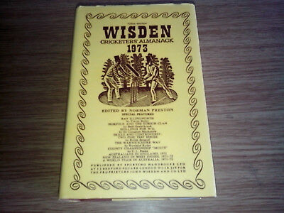 Wisden Cricketers Almanack 1973 Hard Back Book