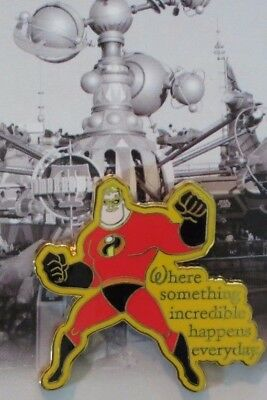 Disney Wdw Dlr Where Dreams Come True Card Collection Mystery Mr Incredible Pin
