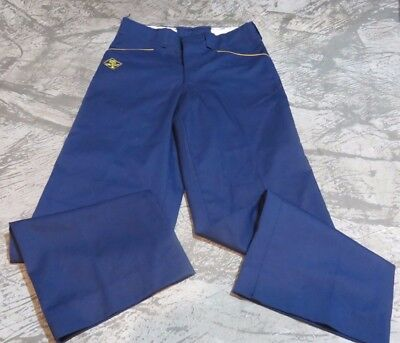 "Official BSA Cub Scout Uniform Blue Pants Youth 24"" waist 23"" inseam size 8"