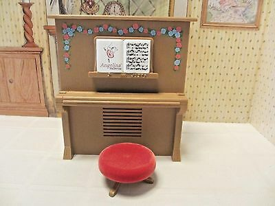 American Girl Angelina Ballerina Piano and Stool, EUC, Tested & Works Great!