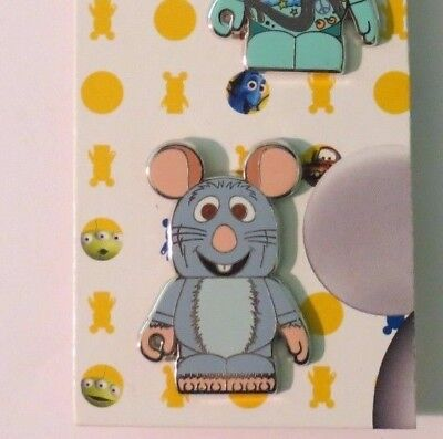 Disney Wdw Dlr Vinylmation Collectors Set Pixar 1 Remy Rat From Ratatouille Pin