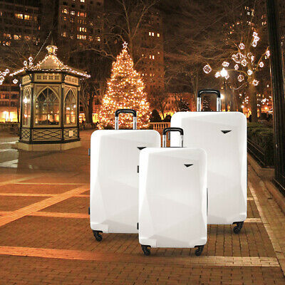 3PC Luggage Suitcase Trolley TSA Carry On Bag Soft Case Lightweight Lite