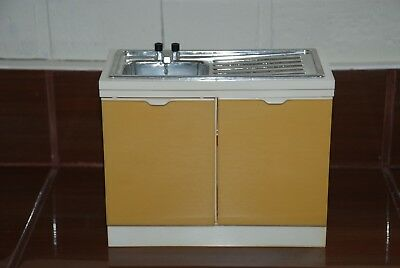Vintage Toys Furniture Doll Sindy Sink White And Yellow