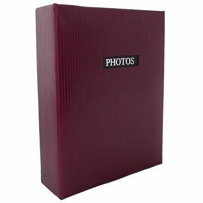 Elegance Red 7x5 Slip In Photo Album - 100 Photos Overall Size 7.5x6""