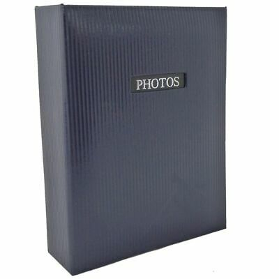 Elegance Blue 7x5 Slip In Photo Album - 100 Photos Overall Size 7.5x6""