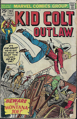 KID COLT OUTLAW #203  Feb 1976  R: KCO #96