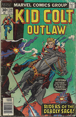 KID COLT OUTLAW #210  Sep 1976  R: KCO #69