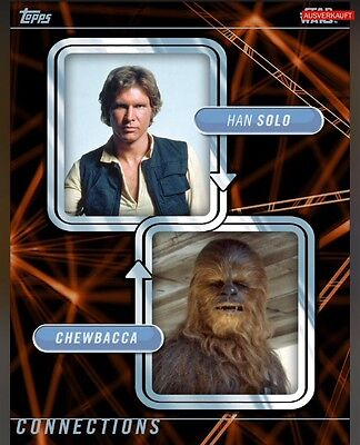 TOPPS Star Wars Card Trader: Connections Han Solo / Chewbacca (1 card)