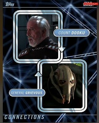 TOPPS Star Wars Card Trader: Connections Count Dooku / General Grievous (1 card)