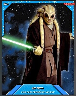 TOPPS Star Wars Card Trader: Topps Classic Blue Base s3 Kit Fisto (25cc - 1 card