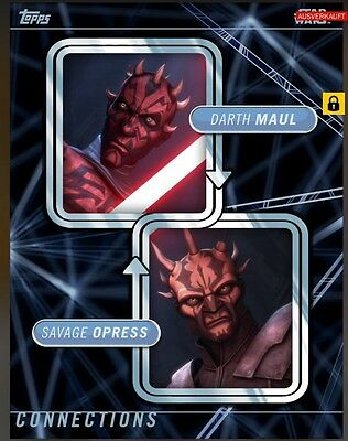 TOPPS Star Wars Card Trader: Connections Darth Maul / Savage Opress (1 card)