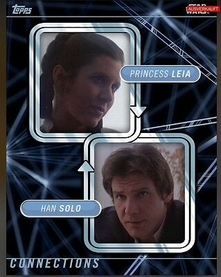 TOPPS Star Wars Card Trader: Connections Han Solo / Princess Leia (1 card)