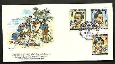 "FDC WORLDWIDE 1979 First Day Cover "" The World of Children "" VIRGIN ISLANDS"