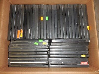 Lot Of 25 Empty Black Plastic Dvds Cds Video Games Cases