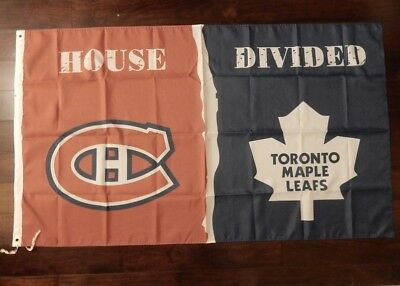 Montreal Canadiens VS Toronto Maple Leafs flag - House Divided - 3ft x 5ft