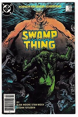 SWAMP THING #38 VF/NM 2nd JOHN CONSTANTINE Appearance Written by Alan Moore 1985