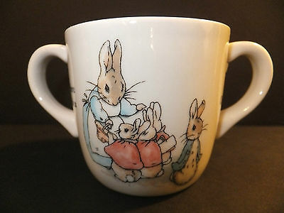 Wedgwood Peter Rabbit Two Handled Cup Retired New In Box
