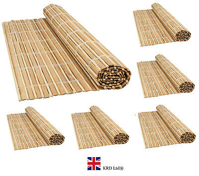 BAMBOO PLACEMATS Table Kitchen Dining Decor Roll Up Sushi Wooden Mat Gift NEW UK