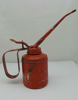 Vintage Wesco Thumb Pump Oil Can Made In England Advertising Collectable