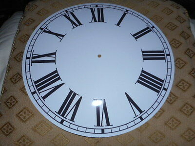 "Large Round Paper Clock Dial - 11"" M/T - Roman - Gloss White -Face / Clock Parts"