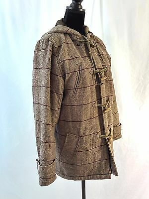 Spiewak Tweed Thinsulate Quilted Lined Toggle Peacoat Brown Houndstooth - Small