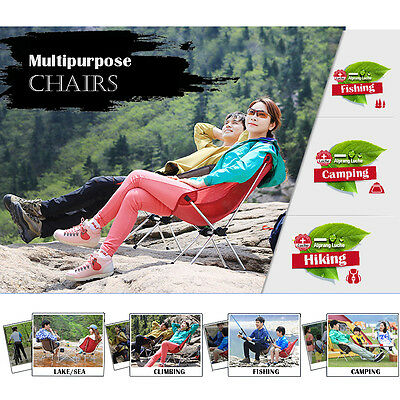 The Elixir Advenature Portable Outdoor Folding Seat Chair Camping Beach Hiking