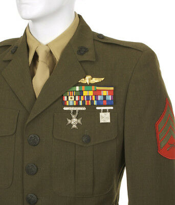 Marine Corps Mans Polyester Wool Tropical Green Shade 2241 Coat Alpha Jacket