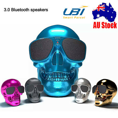 Skull Bluetooth Speaker Wireless Super Bass Stereo  45W Subwoofer Portable AU