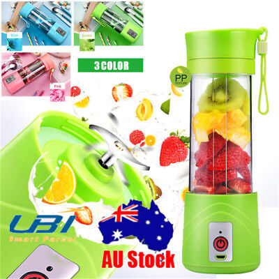 400ml Electric Mini Blender Fruit Juicer Rechargeable Smoothie Maker Machine AU