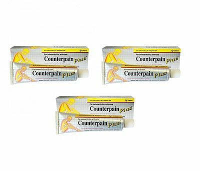 *BEST* 50g COUNTERPAIN MUSCULAR TENSION RELIEF PLUS ANALGESIC WARM BALM YELLOW