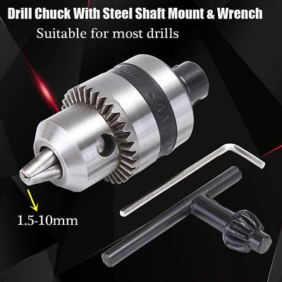 Mini Electric Drill Chuck 1.5-10mm + 5mm Steel Shaft Mount B12 Inner Hole Tool