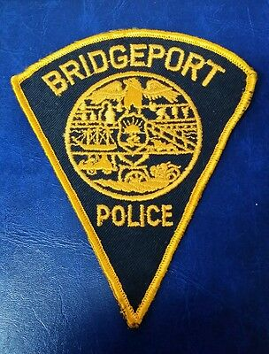 "Bridgeport, Connecticut Police ""no Ct"" Shoulder Patch Ct"