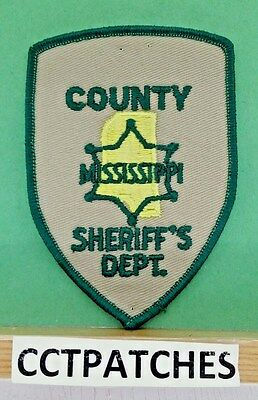 County, Mississippi Sheriff (Police) Shoulder Patch Ms