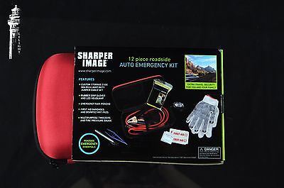 Nwt Sharper Image Auto Roadside Emergency Kit 12 Piece