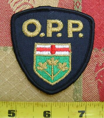 RARE OPP PATCH  police,security,enforcement officer,Canada