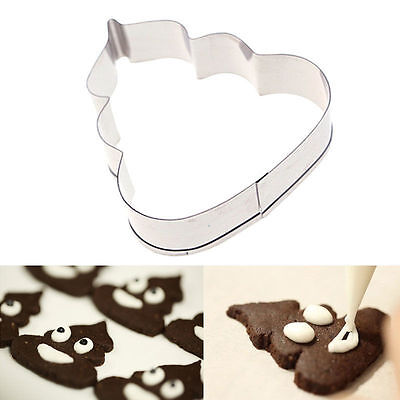 New 1 x Poo Shape Biscuit Cookie Party Mold Cutter Metal Cake Cutting Poop Mould