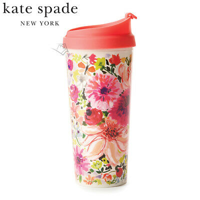 NEW Kate Spade Thermal Travel Mug - Dahlia Floral - Spillproof Coffee Hot/Cold
