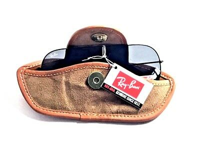 Hawk Natural Genuine Soft  Brown Leather Sunglasses Reading Pouch - Belt Loop