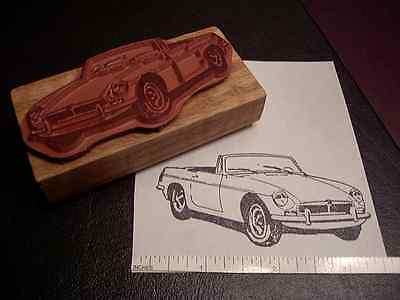MGB Classic Sports Car Rubber Stamp 1962-1980 MG B 1970 1964 1965 1966 1967 1968