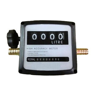 NEW 4 Digital Diesel Gas Fuel Oil Flow Meter Counter w/ Iron Fitting Accuracy 1%