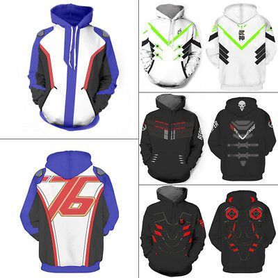 Overwatch OW Game Soldier 76 Stylish Jacket Hoodie Coat Men's Cosplay Costume