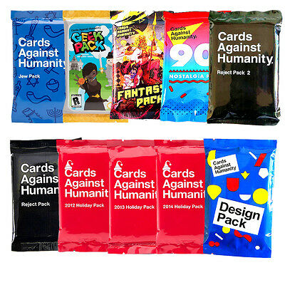 Cards Against Humanity Jew Geek Science Fantasy WWW Design Pack Party Game CAH