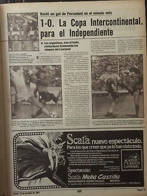 1984 Intercontinental Cup.Final.Liverpool, 0 - Independiente, 1.