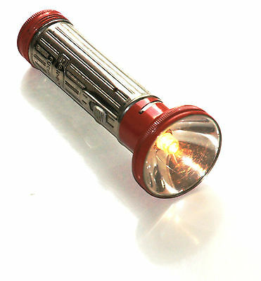 Taschenlampe Pocket Flashlight Daimon Focus Rot Made in Germany Vintage