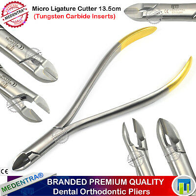 Orthodontics Micro-Mini Soft Pin & Wire Ligature Cutter TC Long Handle 13.5cm TC