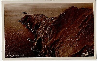 Achill Head, Co. Mayo ~ An Old Real Photo Postcard (7D80)