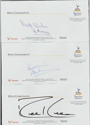 Official TOTTENHAM HOTSPUR compliment slip signed by ROBBIE KEANE